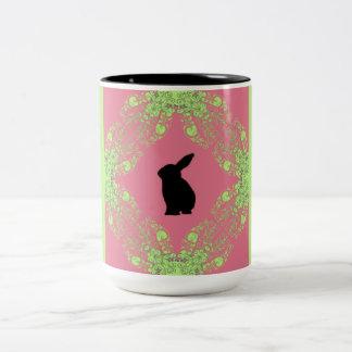 Magical-Spring_Bunny Two-Tone Coffee Mug