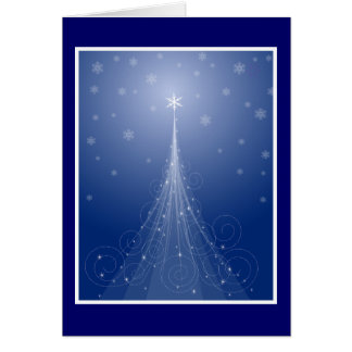 Magical Star Dusted Christmas Tree Card