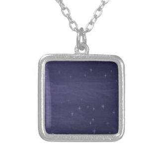 Magical Starry Night Silver Plated Necklace
