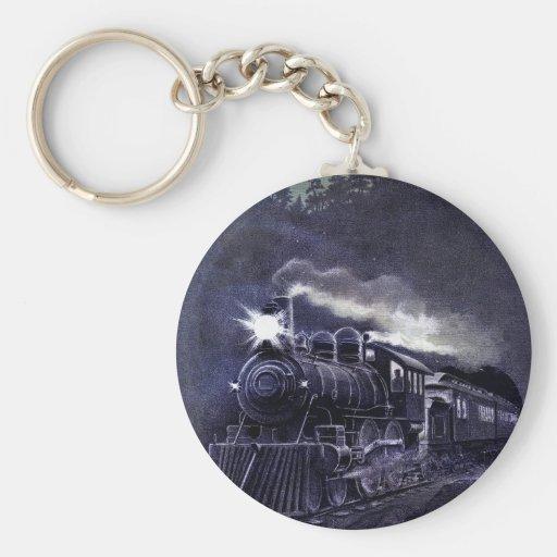 Magical Steam Engine Victorian Train Keychains