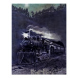 Magical Steam Engine Victorian Train Posters
