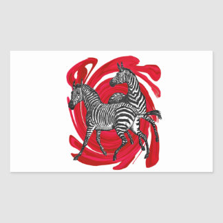 Magical Stripes Rectangular Sticker