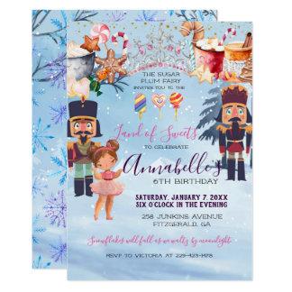 Magical Sugar Plum Fairy Nutcracker Birthday Party Card
