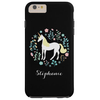Magical Unicorn Black Personalized Tough iPhone 6 Plus Case