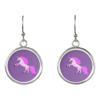 Magical Unicorn Drop Earrings