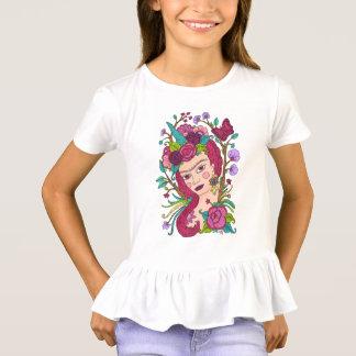 Magical unicorn girl's t-shirt