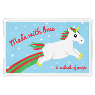 Magical Unicorn Made W/ Love & Magic Serving Tray