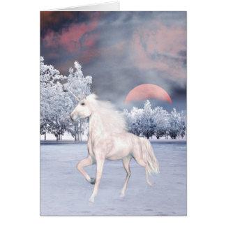 Magical unicorn morning card