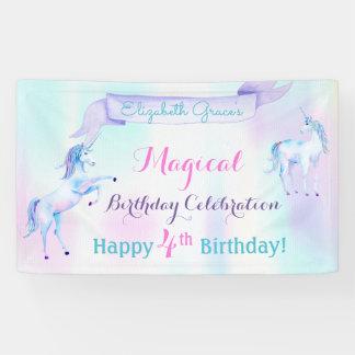 Magical Unicorn Rainbow Lavender Pink Turquoise