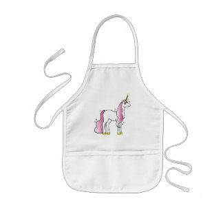 Magical Unicorn with Pink Mane and Tail Kids Apron