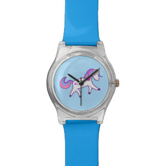 Magical Unicorn with Pink, Purple, and Blue Mane Watch