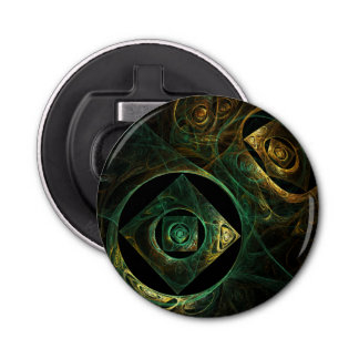 Magical Vibrations Abstract Art Button