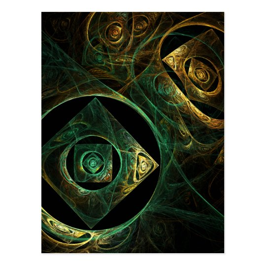 Magical Vibrations Abstract Art Postcard