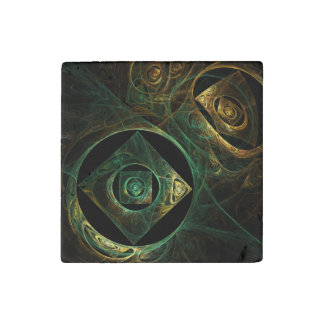 Magical Vibrations Abstract Art Stone Magnet