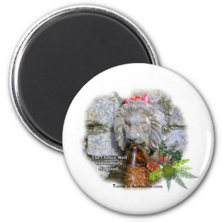Magical Well, Glastonbury England 6 Cm Round Magnet