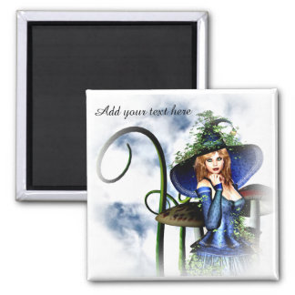 Magical Witch halloween magnet