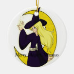 Magical Witch, Merry Magic Christmas Christmas Ornament