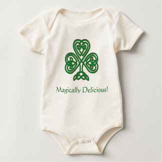 Magically Delicious! Celtic Heart Knot Shamrock T Baby Bodysuit