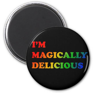 Magically delicious 6 cm round magnet