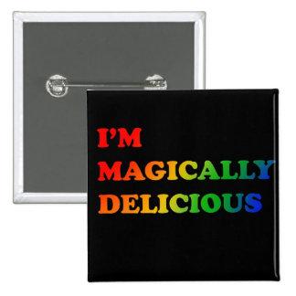 Magically delicious pinback button