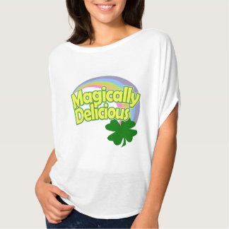 Magically Delicious Rainbow Shamrock Shirts