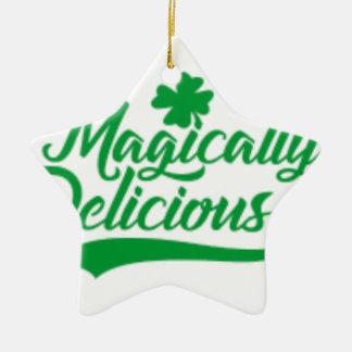 Magically Delicious St. Patrick's Day Ceramic Ornament