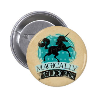 Magically Delicious Unicorn Meat Vintage Button