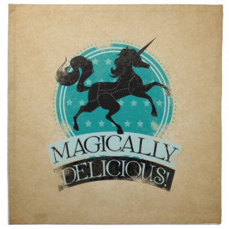 Magically Delicious (Unicorn Meat) Vintage Cloth Napkins