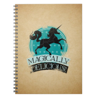 Magically Delicious (Unicorn Meat) Vintage Spiral Note Book