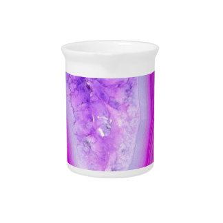 Magically Purple Agate Druzy Pitcher