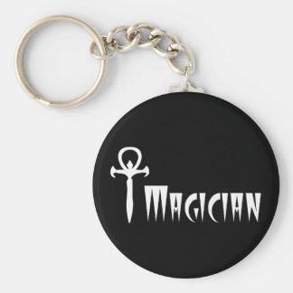 Magician Basic Round Button Key Ring