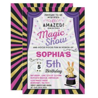 Magician Birthday Invitation Magic Show Party