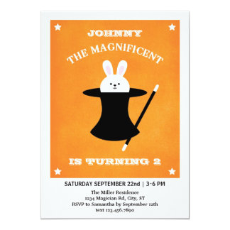 Magician Birthday Party Invitation