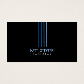 Magician Business Card Blue Beams