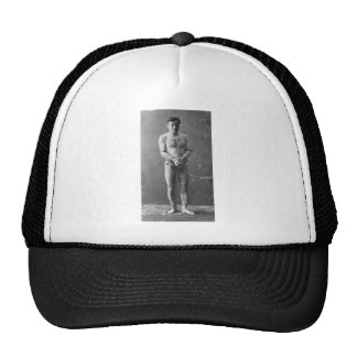 Magician Harry Houdini Standing In Chains Cap