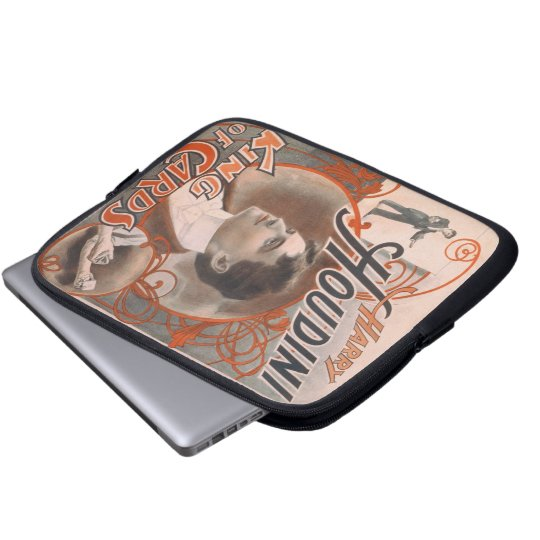 Magician Harry Houdini The King Of Cards Laptop Sleeve
