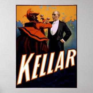 Magician Kellar toasts the Devil Poster