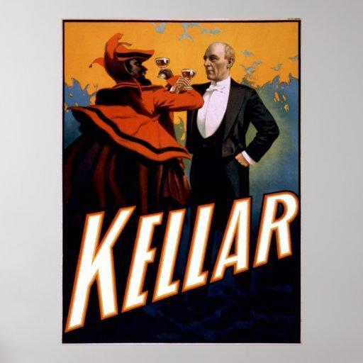 Magician Kellar toasts the Devil Posters