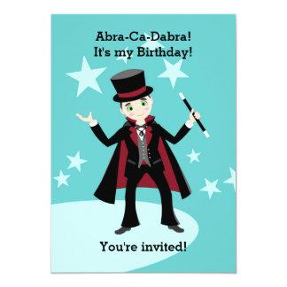 Magician kid birthday party 13 cm x 18 cm invitation card