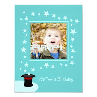 Magician kid birthday party card