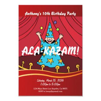 Magician Magic Birthday Party Invitation