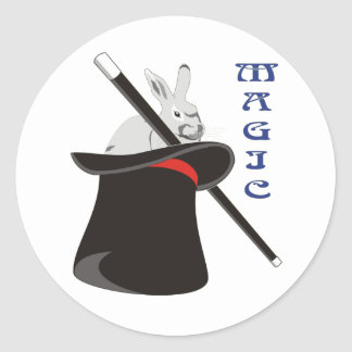 Magician Magic Classic Round Sticker