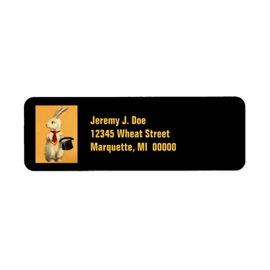 Magician Magic Hat Trick Rabbit Address Labels