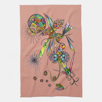 Magician - magic in the kitchen psychedelic art tea towel