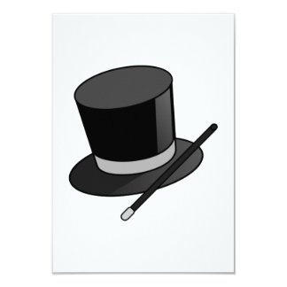 Magician Wand and Hat 9 Cm X 13 Cm Invitation Card