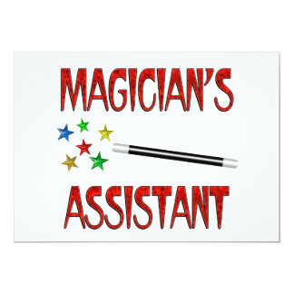Magicians Assistant 13 Cm X 18 Cm Invitation Card