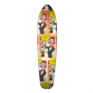 Magician's bunny feeling mad and saying bad words 18.1 cm old school skateboard deck