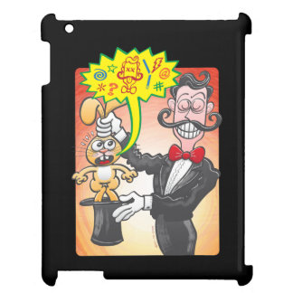 Magician's bunny feeling mad and saying bad words iPad cover