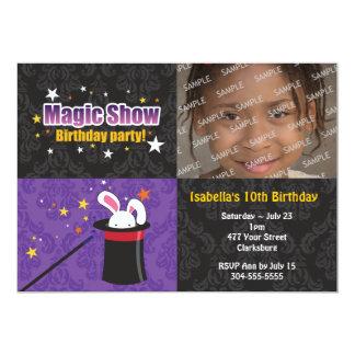 Magician's Rabbit Birthday Party 13 Cm X 18 Cm Invitation Card