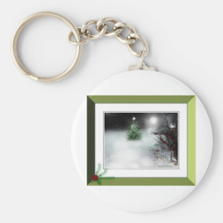MagicIn The Woods Basic Round Button Key Ring